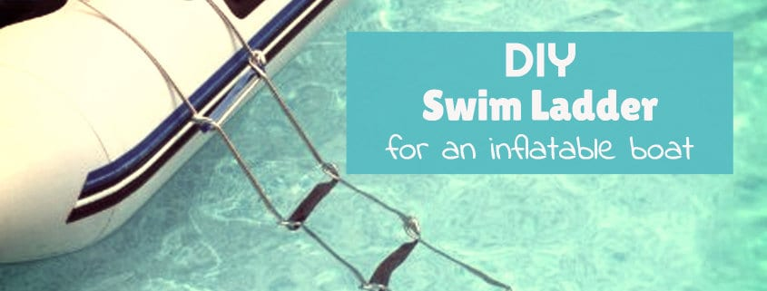 DIY swim ladder for an inflatable boat 3