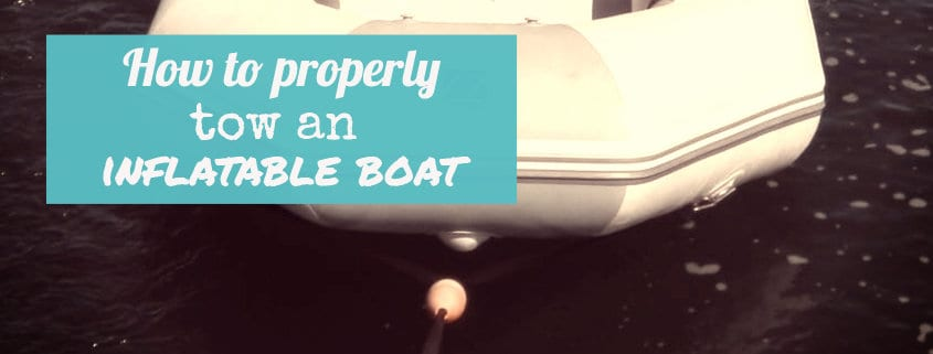 How to properly tow an inflatable boat 1