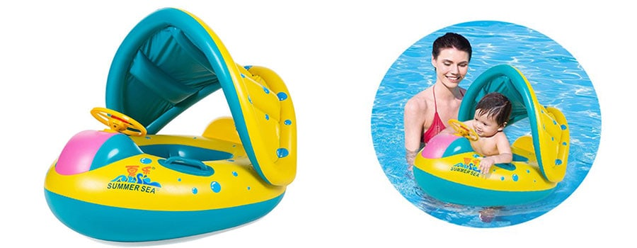 Encoykid Inflatable Baby Pool Swimming Ring