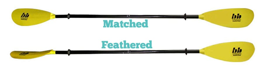 Kayak Paddle Feathered Vs Matched