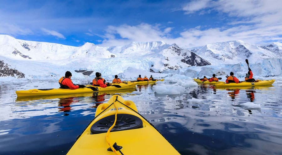 Antarctica Winter Kayaking Location