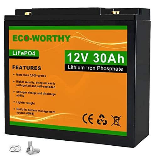 Eco-Worthy 30 ah lithium battery